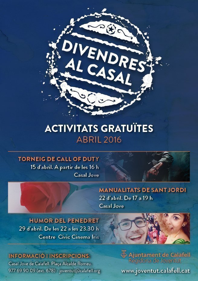 Cartell Divendres Casal Abril 2016