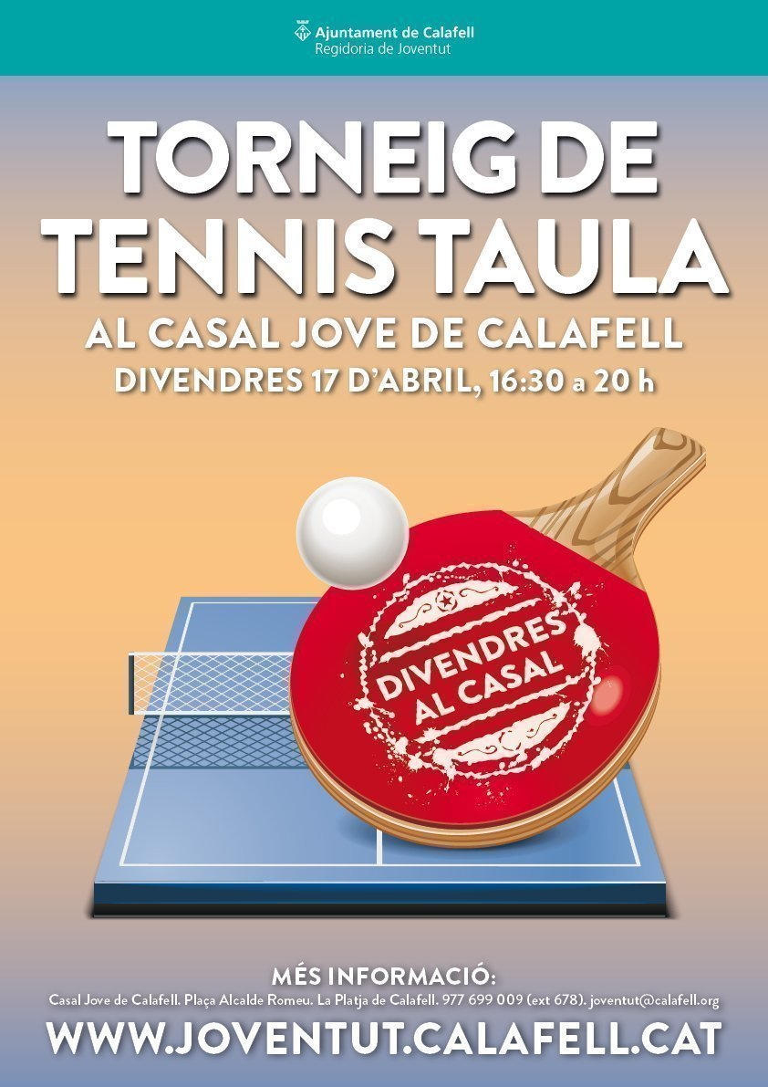 Cartell Divendres Ping Pong ABRIL 2015