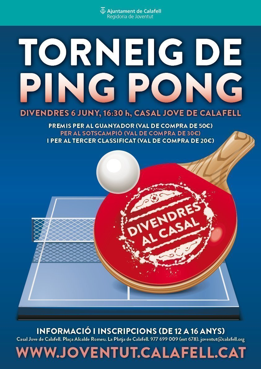 Cartell Divendres Ping Pong juny 2014