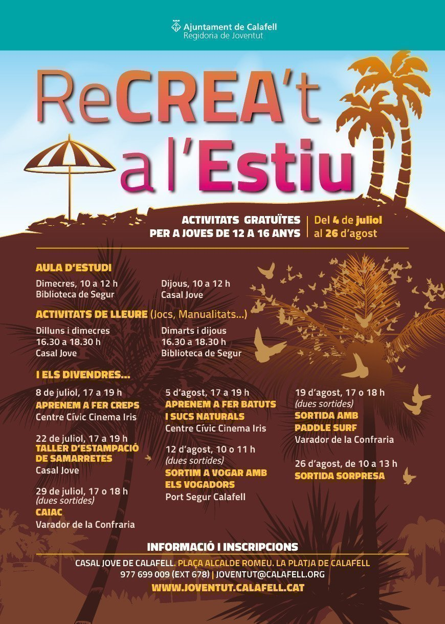 Cartell Recreat a lEstiu