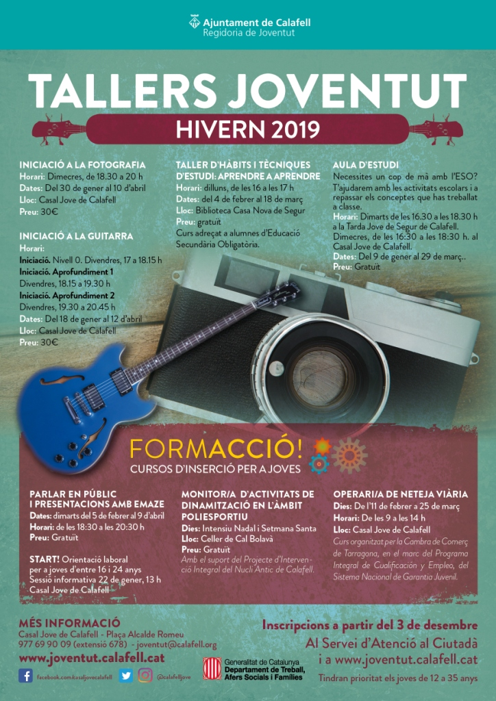 Cartell Tallers Hivern 2019 web